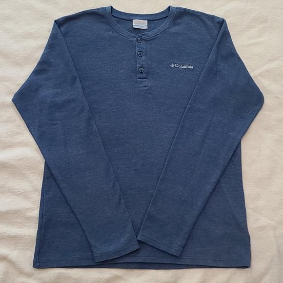 Men's Columbia 3 Button Henley Shirt Size Medium